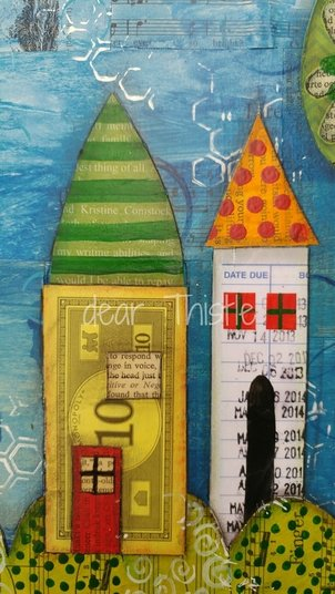 HOME - Mixed media houses - detail