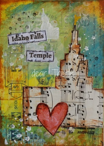 Idaho Falls Temple Mixed Media
