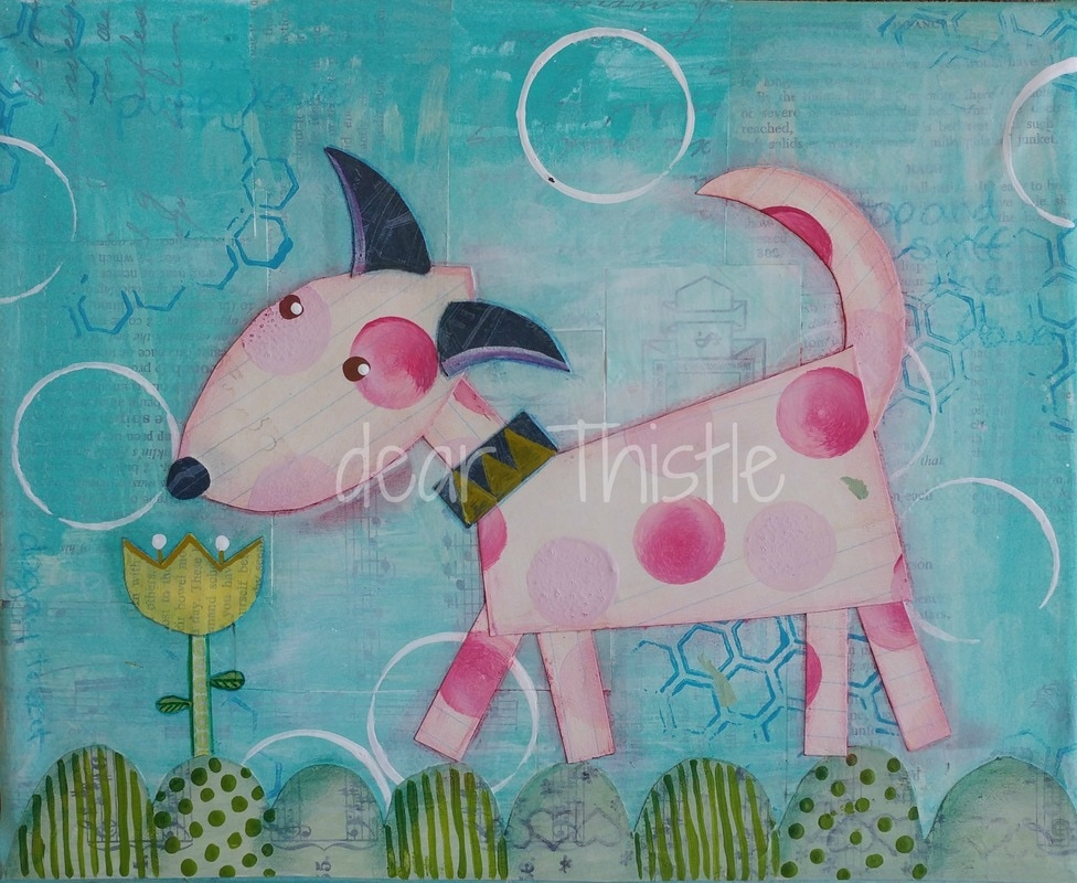 Stop and Sniff the Flowers - Mixed Media