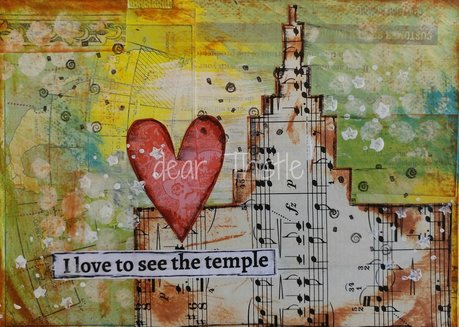 I love to see the temple - mixed media